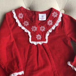 Hanna Andersson red corduroy dress